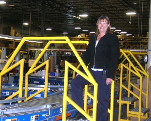 Kim Messer in the RepairClinic.com Warehouse