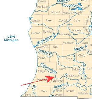 Detail Map of Michigan